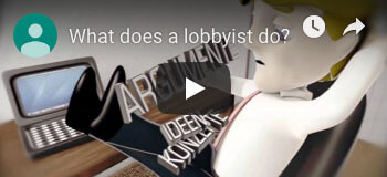 What does a lobbyist do ?